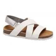 Witte sandaal klittenband