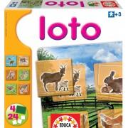 Gyermek játék Lottó Educa 24 db állatkákkal a farmról