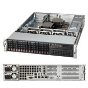 Supermicro 2U Chassis, 740W PS (redundant, Platinum Level), 16x 2.5' Hot-swap drive bays, direct attached backplane, Mini-i-pass connectivity