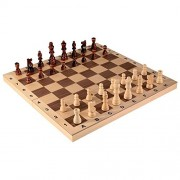 Alina Chess Inlaid Wood Folding Board Game with Pieces and Tray - Ranks and Files Board (Numbers and Letters on Side) - 16 Inch Set by Best Chess Set