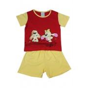 Fifinka - dívčí pyžamo 1-2 roky červená