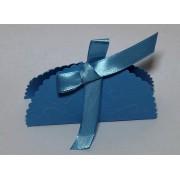 Cutiute marturii nunta-botez, culoare albastra, forma scoica