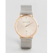 Abbott Lyon Розово-золотистые часы с серебристым сетчатым браслетом Abbott Lyon St