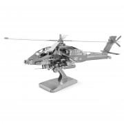 Metal Earth AH-64 Apache Zilver Editie