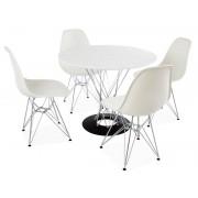 Table Cyclone Noguchi et 4 chaises