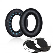 ITIS Replacement Earpad Ear Pad Cushions compatible for Bose Quietcomfort 2 QC2, Quietcomfort 15 QC15, Quietcomfort 25 QC25, Ae2, Ae2i , Ae2w Headphone with IT IS Headphone Cable Cord Clip