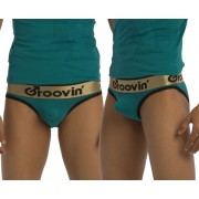 Groovin Bold Line Push Up Brief Underwear Green BF0605