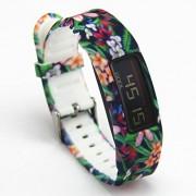 Garmin Vivofit 2 banda de recambio, Garmin Vivofit 2 pulsera, Garmin Vivofit 2 banda de fitness, Flower-015