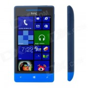"HTC Windows Phone 8S A620e Dual-Core WCDMA Téléphone w / 4.0 ""capacitif Wi-Fi et GPS - Noir + Bleu"