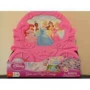 Disney Princess Carriage Puzzle & Game Collection - Checkers, Old Maid, Go Fish, + Two 50pc Puzzles by Cardinal