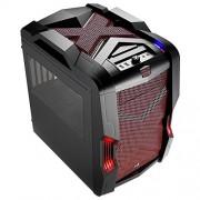 Aerocool Strike-X Cube Cubo Nero, Rosso