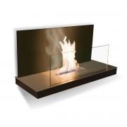 Radius Design - Wallflame II - Edelstahl / Glas, schwarz