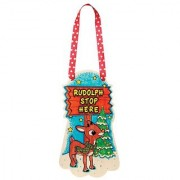 WeGlow International Rudolph The Red-Nosed Reindeer Color-In Wood Hanger Kit - Rudolph (2 Kits)