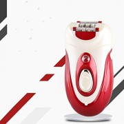 ShopyBucket 7860B-Electric Red Rechargeable Hair Removal Female Shaver Epilator Folder wheel Formula lady shaver Beard Shaver For Face Body