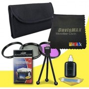 67mm 3 Piece Filter Kit for Canon EOS 70D with Canon 18-135mm STM Lens + DavisMAX Fibercloth Deluxe Filter Bundle