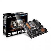 ASRock Z170M ASRock Carte mère ATX Intel Pro4S Z170, DDR RAM 6 Go/s SATA PCIe 3.0 DVI/HDMI