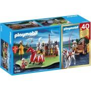 Playmobil Jubileum Compact Set Riddertoernooi met kanontransport - 5168