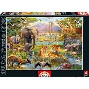 Educa - 16303 - Puzzle Classique - Le Point D'eau Africain - 1500 Pièces