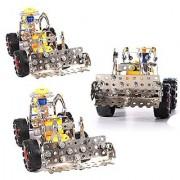 Easy Gift Bulldozer Kit Metal Model Brick Construction Set Educational Toy 3D Laser Cut Stainless Steel Metal Models Blo