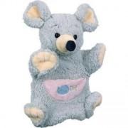 Doudou Babynat Souris Mousse Grey Gris Grise Poche Rose Marionnette 24cms