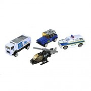 AITING Alloy toy car jeep Helicopter police swat City defense team kids toys