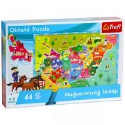 Magyarország 44 db-os térkép puzzle