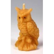 Svíčka ze včelího vosku sova malá