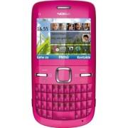 Nokia C3-00 Smartphone - Ecran 6,1 cm -2,4 pouces - Bluetooth - Appareil photo 2 mégapixels - Clavier QWERTY - Rose (Import Allemagne)