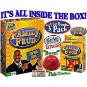 Endless Games Family Feud 5th Edition Family Feud Strikeout Card Game & Exclusive Electronic Red 3 Mode Game Answer Buz