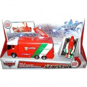 Disney Pixar Cars Sal Transporter and Francesco Bernoulli Stunt Racer Vehicle Set