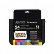 Winsor & Newton-Promarker 24 Mixed Marker Set