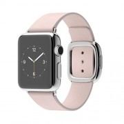 APPLE 38MM STAINLESS STEEL CASE WITH SOFT PINK MODERN BUCKLE - MEDIUM