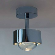 Top Light Puk Turn Deckenleuchte chrommatt-Up- & Down Light-Linse klar-LED