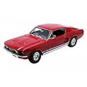 Maisto 31166 - 1967 Ford Mustang Gta Fastback, Rosso, Scala 1:18