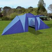 vidaXL Палатка за къмпинг 6 човека, цвят морско син/светло син