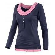 WLD Under The Cherry Moon Layerlangarmshirt Damen mehrfarbig, Größe: S