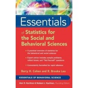 Essentials of Statistics for the Social and Behavioral Sciences by Barry H. Cohen