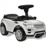 vidaXL Електрическа кола Land Rover 348, бяла, с мелодии
