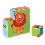 Hape - E0421 - Puzzle En Bois - Blocs - Animaux Du Zoo