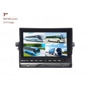 """7"""" LCD monitor s možnosťou pripojiť až 4 cúvacie kamery"""