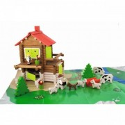 Jeujura Mountain Chalet - 175 Piece Wooden Construction Set