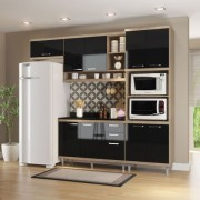 Kit Cozinha 4 Módulos MDP com Pintura UV Texturizada e UV Brilho