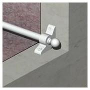 SMO9512 - Sistem fixare mocheta, teava otel 9,5 mm + accesorii zinc