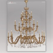 Candelabru LUX 20 brate fabricat manual, cristal Asfour, diam.146cm Venus 2728/20 Bejorama