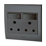 Double Plug Socket LED Backlit