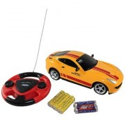 Battery Operated rechargeable Car with Steering-yellow color