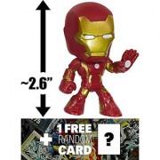 Iron Man - Hand Up: ~2.6 Avengers - Age of Ultron x Funko Mystery Minis Vinyl Mini-Bobble Head Figure Series + 1 FREE O