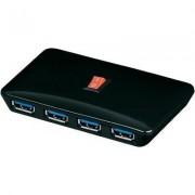 USB 3.0 HUB, 4 port, fekete, goobay (398948)