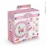 Pazapa set veselă copii pentru zi de naştere Birthday Set P'tite Fille 0008 roz