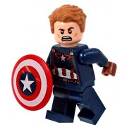 Lego Captain America Minifigure - Civil War Version - Loose